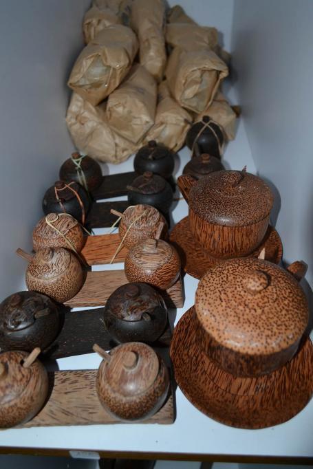 Petite vaisselle bambou et palmier