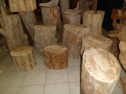 Tronc en bois flottés